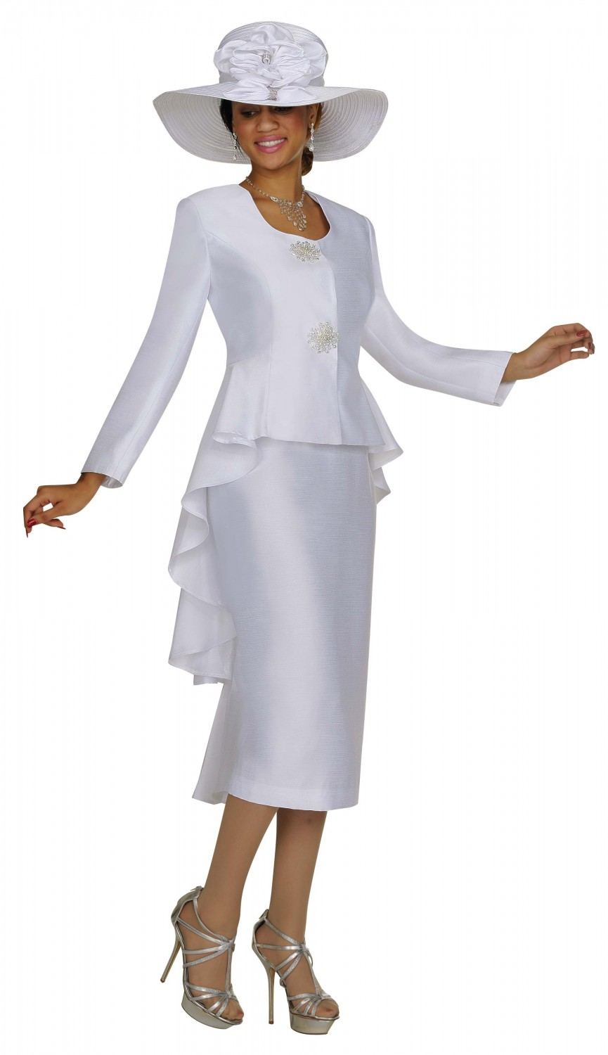 G4322 Tuxedo Jacket Skirt Suit Divine Apparal Inc
